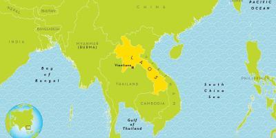 Laos Kort Kort Laos Syd Ostlige Asien Asien